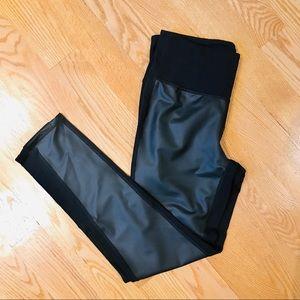 Athleta Gleam Tight Faux Leather Leggings
